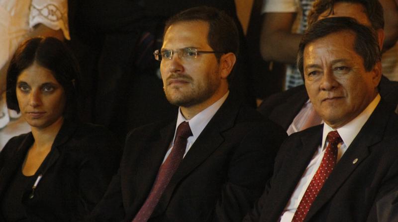 El secretario de Políticas Universitarias de la Nación, el doctor Martín Gill, junto al Rector de la U.Na.F. Ing. Martin Romano