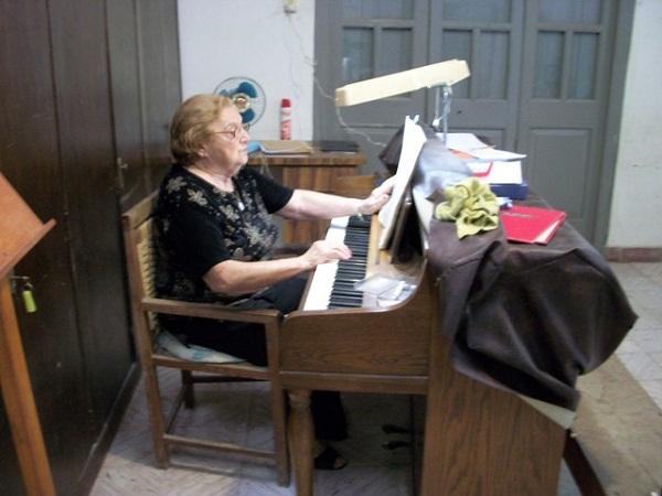 La profesora Elda Milanese