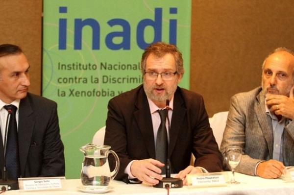 El interventor del INADI y los ministros Soto y Jacobo