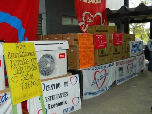 Centro de Estudiantes donó aires acondicionados
