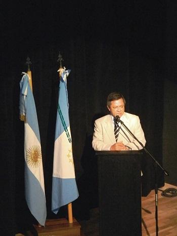 El rector Romano brinda su discurso