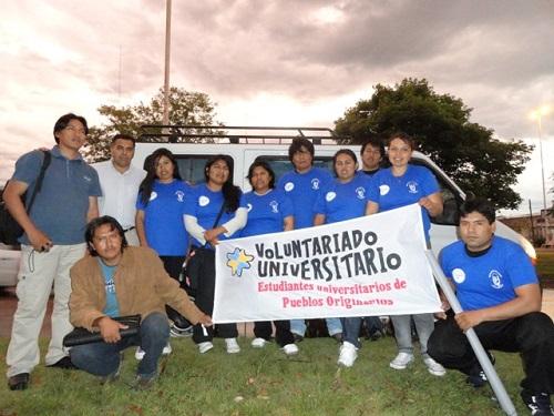 Contingente de estudiantes hacia Ramón Lista