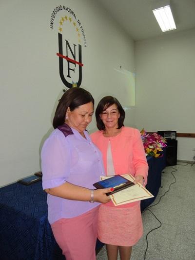 La subsecretaria Batista en el acto organizado por la FCS