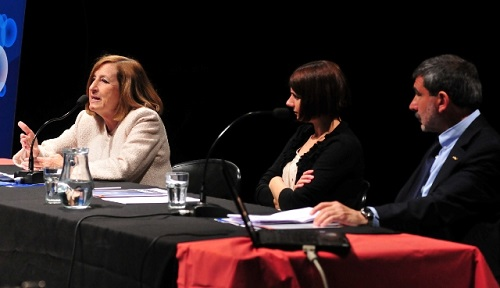 La subsecretaria Révora, la licenciada Alonso y el doctor Salvarezza