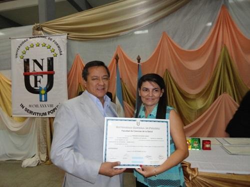 La máxima autoridad de la UNaF, el rector Romano