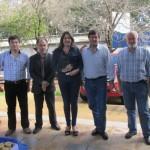 C+íceres, rector, vicerrector, secretario y subsecretaria de CyT de UNaM