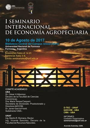 I Seminario Internacional de Economia Agropecuaria - copia